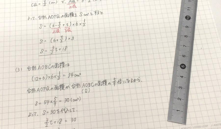 分数のレイアウト例