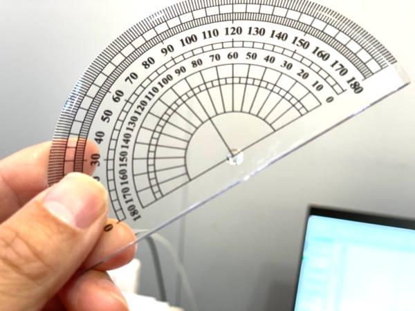 某100均の分度器